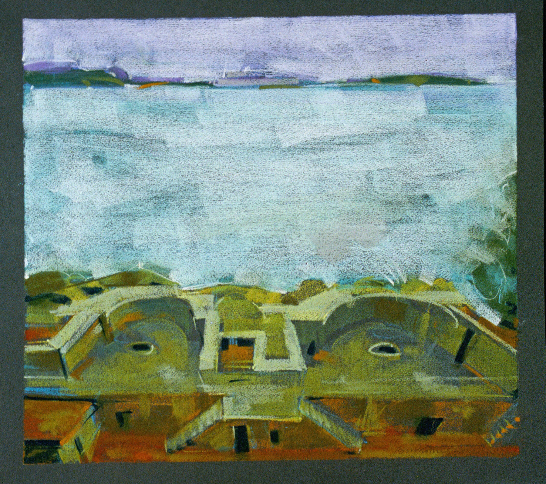 "Kirby Cove, Pastel on Paper (Fabriano), 1999, 17.5 x 19.125"", L99P3-67"