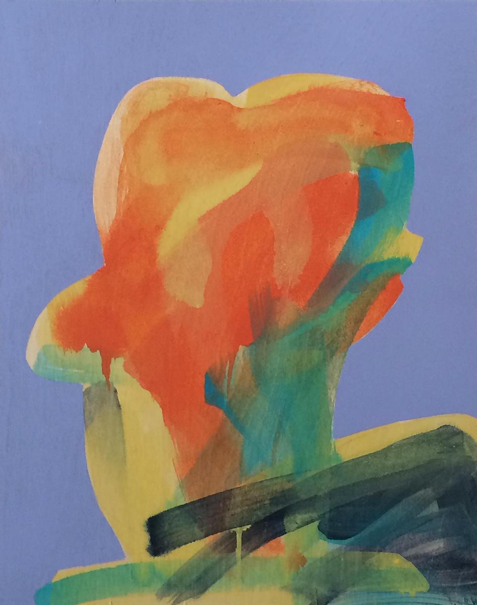 Painting, people, relations, Profile, Portrait, Acrylic, Panel