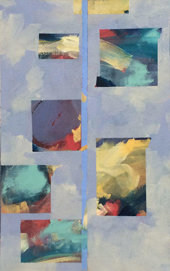 Abstract, windows, sky, air, painting