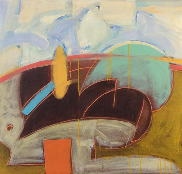 color, abstract, horizon, landscape, yello