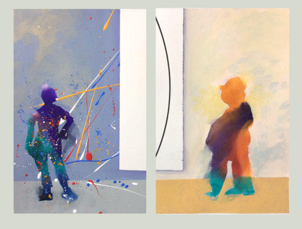 Two; Artist; Gallery; viewer; Paint; Minimalism; Colors, painting, work