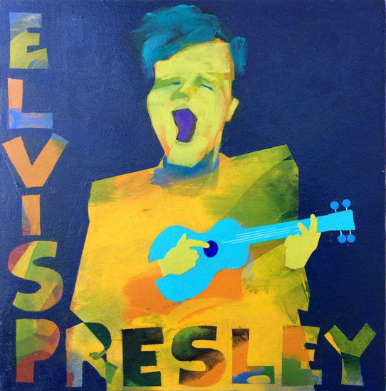 album cover, parody, Elvis, Elvis Presley, Music, Painting