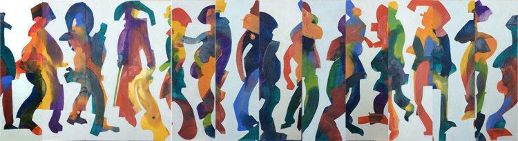 multiple, abstract art, adjustable. options, Figurative Painting