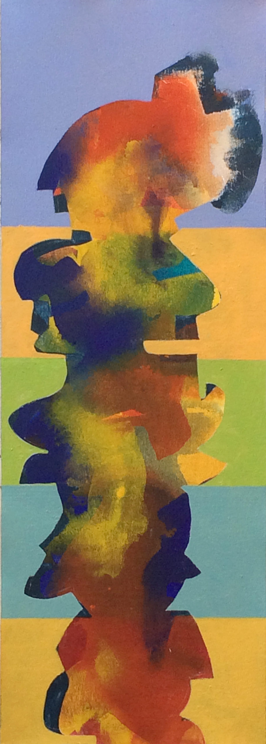 Painting, color, abstract, figurative, portrait
